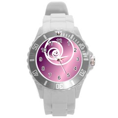 Round Plastic Sport Watch (l) by Jylart