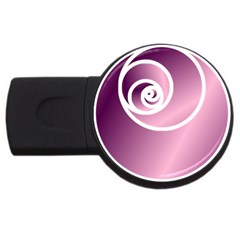 Rose Usb Flash Drive Round (4 Gb) by Jylart