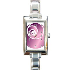 Rose  Rectangle Italian Charm Watch by Jylart