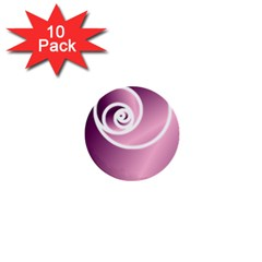 Rose  1  Mini Buttons (10 Pack)  by Jylart
