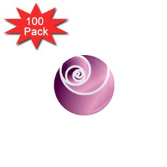 Rose  1  Mini Magnets (100 Pack)  by Jylart