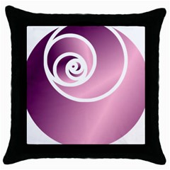 Rose  Throw Pillow Case (black) by Jylart