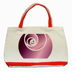 Rose  Classic Tote Bag (red) by Jylart