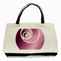 Rose  Basic Tote Bag (two Sides) by Jylart