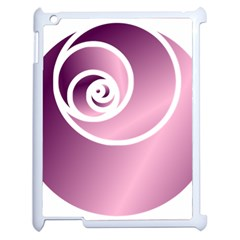 Rose  Apple Ipad 2 Case (white) by Jylart