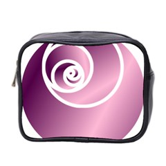 Rose  Mini Toiletries Bag 2 Side by Jylart