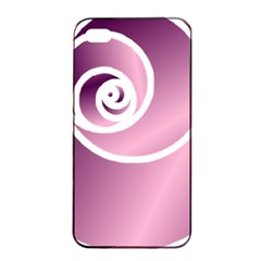 Rose  Apple Iphone 4/4s Seamless Case (black) by Jylart