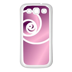 Rose  Samsung Galaxy S3 Back Case (white) by Jylart