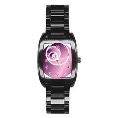 Rose  Stainless Steel Barrel Watch by Jylart
