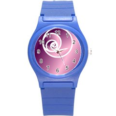 Rose  Round Plastic Sport Watch (s) by Jylart