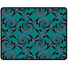 Spirals Double Sided Fleece Blanket (medium)  by Jylart