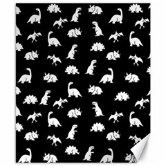 Dinosaurs Pattern Canvas 8  X 10