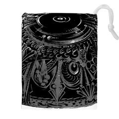 Black And Grey Pattern Cube Drawstring Pouches (xxl) by bywhacky