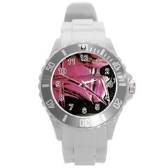 Foundation Of Grammer 2 Round Plastic Sport Watch (l) by bestdesignintheworld
