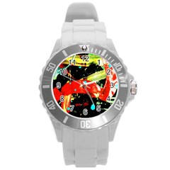 Enigma 2 Round Plastic Sport Watch (l) by bestdesignintheworld