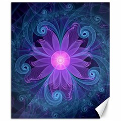 Blown Glass Flower Of An Electricblue Fractal Iris Canvas 20  X 24   by jayaprime