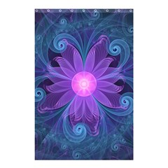 Blown Glass Flower Of An Electricblue Fractal Iris Shower Curtain 48  X 72  (small)  by jayaprime