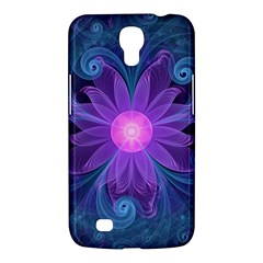 Blown Glass Flower Of An Electricblue Fractal Iris Samsung Galaxy Mega 6 3  I9200 Hardshell Case by jayaprime