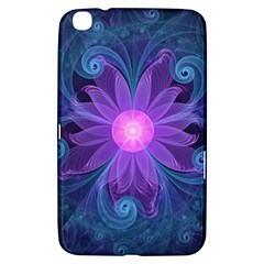 Blown Glass Flower Of An Electricblue Fractal Iris Samsung Galaxy Tab 3 (8 ) T3100 Hardshell Case  by jayaprime