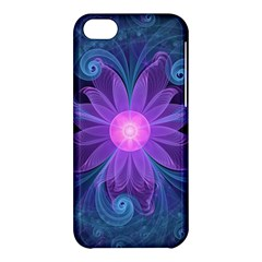 Blown Glass Flower Of An Electricblue Fractal Iris Apple Iphone 5c Hardshell Case by jayaprime