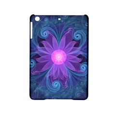 Blown Glass Flower Of An Electricblue Fractal Iris Ipad Mini 2 Hardshell Cases