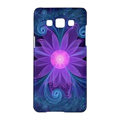 Blown Glass Flower Of An Electricblue Fractal Iris Samsung Galaxy A5 Hardshell Case  by jayaprime