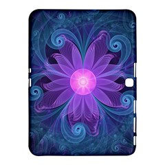 Blown Glass Flower Of An Electricblue Fractal Iris Samsung Galaxy Tab 4 (10 1 ) Hardshell Case  by jayaprime