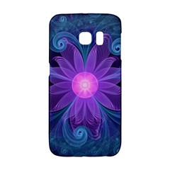Blown Glass Flower Of An Electricblue Fractal Iris Galaxy S6 Edge by jayaprime