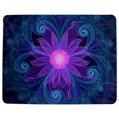 Blown Glass Flower Of An Electricblue Fractal Iris Jigsaw Puzzle Photo Stand (rectangular) by jayaprime