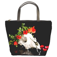 Animal Skull With A Wreath Of Wild Flower Bucket Bags by igorsin