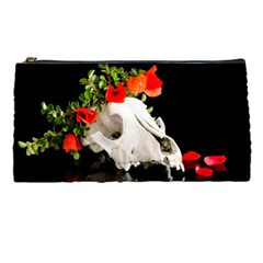 Animal Skull With A Wreath Of Wild Flower Pencil Cases by igorsin