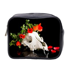 Animal Skull With A Wreath Of Wild Flower Mini Toiletries Bag 2 Side by igorsin