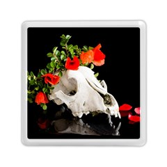 Animal Skull With A Wreath Of Wild Flower Memory Card Reader (square)  by igorsin