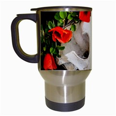 Animal Skull With A Wreath Of Wild Flower Travel Mug (white) by igorsin