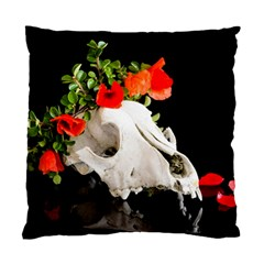 Animal Skull With A Wreath Of Wild Flower Standard Cushion Case (one Side) by igorsin