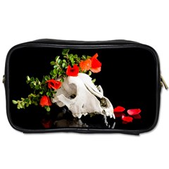 Animal Skull With A Wreath Of Wild Flower Toiletries Bag (two Sides) by igorsin