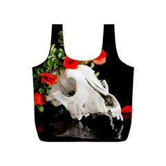 Animal Skull With A Wreath Of Wild Flower Full Print Recycle Bag (s) by igorsin