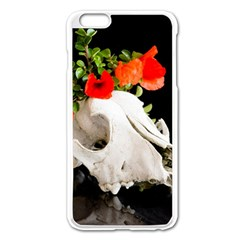 Animal Skull With A Wreath Of Wild Flower Apple Iphone 6 Plus/6s Plus Enamel White Case by igorsin