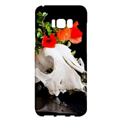 Animal Skull With A Wreath Of Wild Flower Samsung Galaxy S8 Plus Hardshell Case  by igorsin