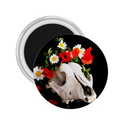 Animal Skull With A Wreath Of Wild Flower 2 25  Magnets by igorsin