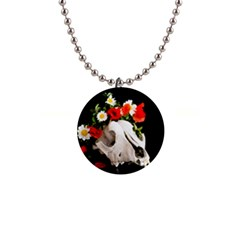 Animal Skull With A Wreath Of Wild Flower Button Necklaces