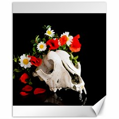 Animal Skull With A Wreath Of Wild Flower Canvas 16  X 20   by igorsin