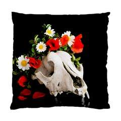 Animal Skull With A Wreath Of Wild Flower Standard Cushion Case (two Sides) by igorsin