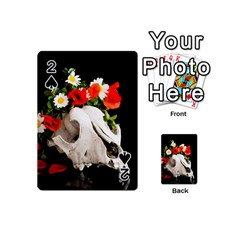 Animal Skull With A Wreath Of Wild Flower Playing Cards 54 (mini)  by igorsin