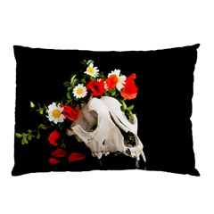 Animal Skull With A Wreath Of Wild Flower Pillow Case (two Sides) by igorsin