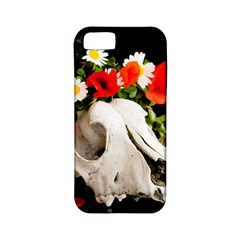 Animal Skull With A Wreath Of Wild Flower Apple Iphone 5 Classic Hardshell Case (pc+silicone) by igorsin