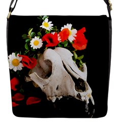 Animal Skull With A Wreath Of Wild Flower Flap Messenger Bag (s) by igorsin