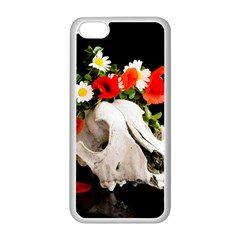 Animal Skull With A Wreath Of Wild Flower Apple Iphone 5c Seamless Case (white) by igorsin