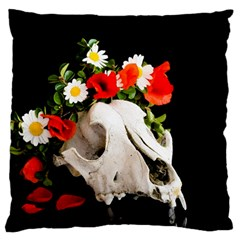 Animal Skull With A Wreath Of Wild Flower Standard Flano Cushion Case (one Side) by igorsin