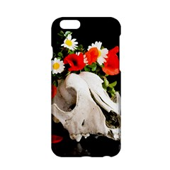 Animal Skull With A Wreath Of Wild Flower Apple Iphone 6/6s Hardshell Case by igorsin